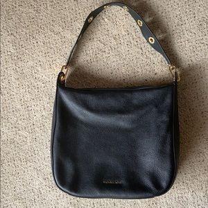 Michael Kors Black Leather Shoulder Purse